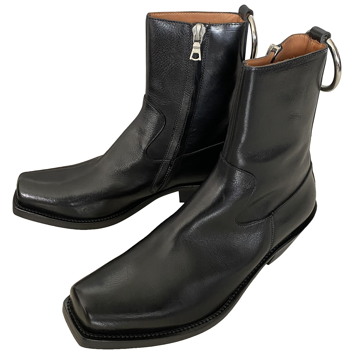 Vetements \N Black Leather Boots for Men 40 EU