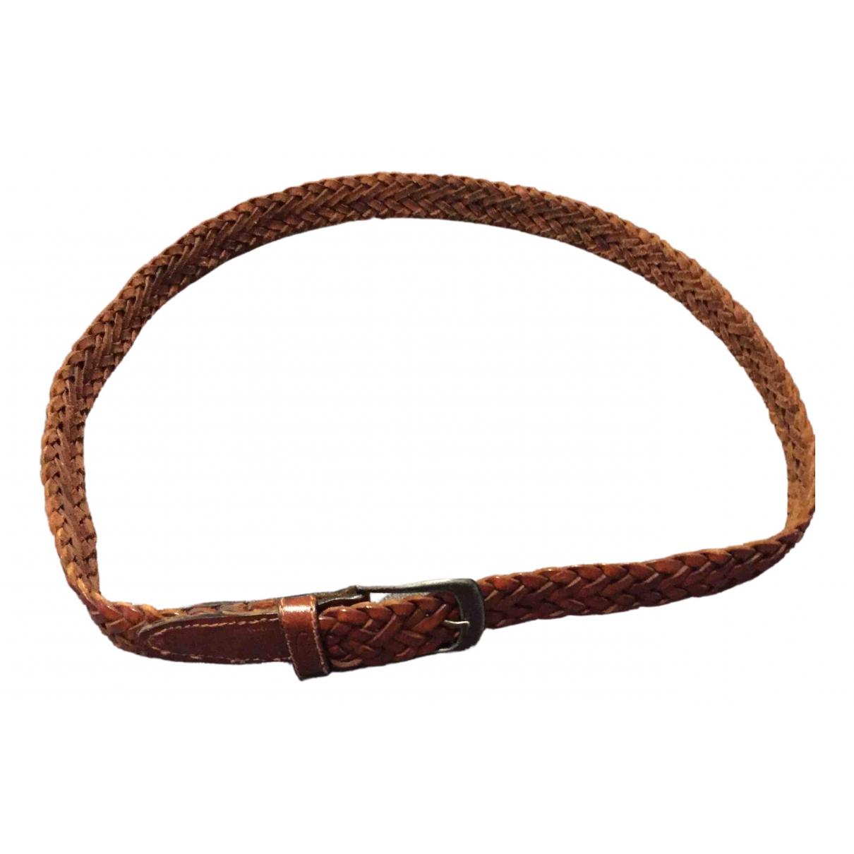 Missoni N Brown Leather belt for Men 100 cm