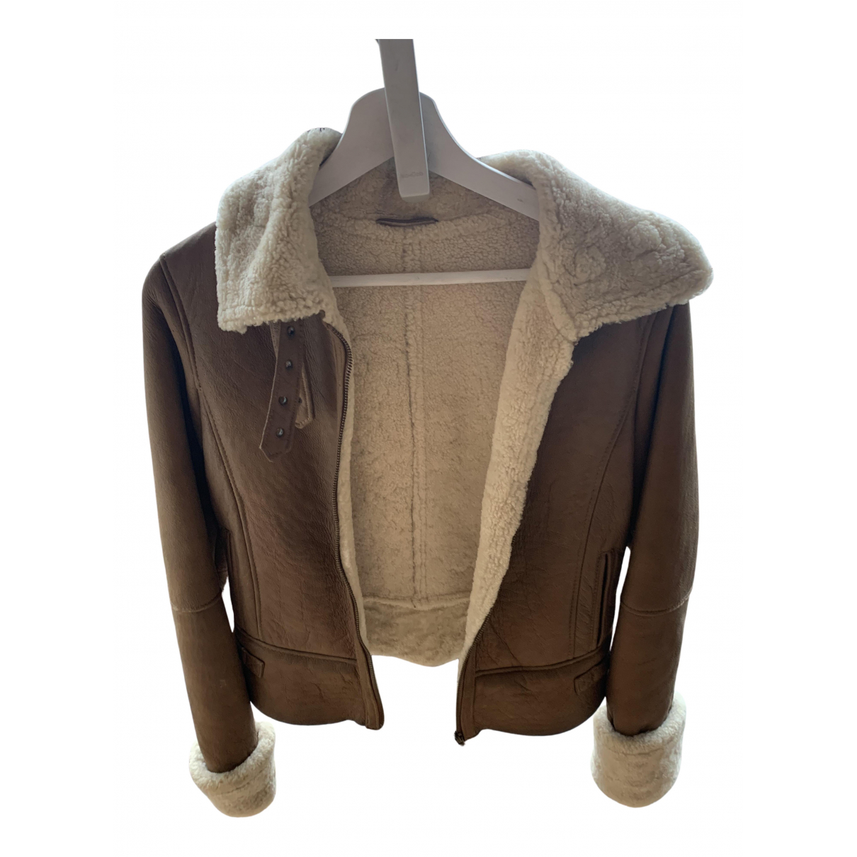 Uterque N Brown Leather Leather jacket for Women 36 FR