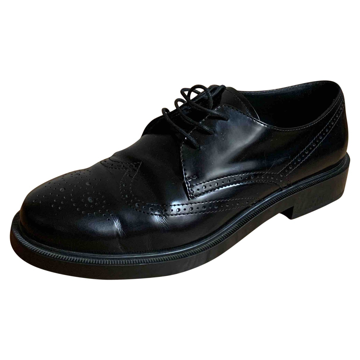 Tod's \N Black Leather Lace ups for Women 40 EU