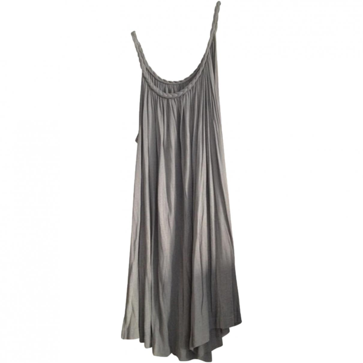 Sandro \N Grey Silk dress for Women One Size FR