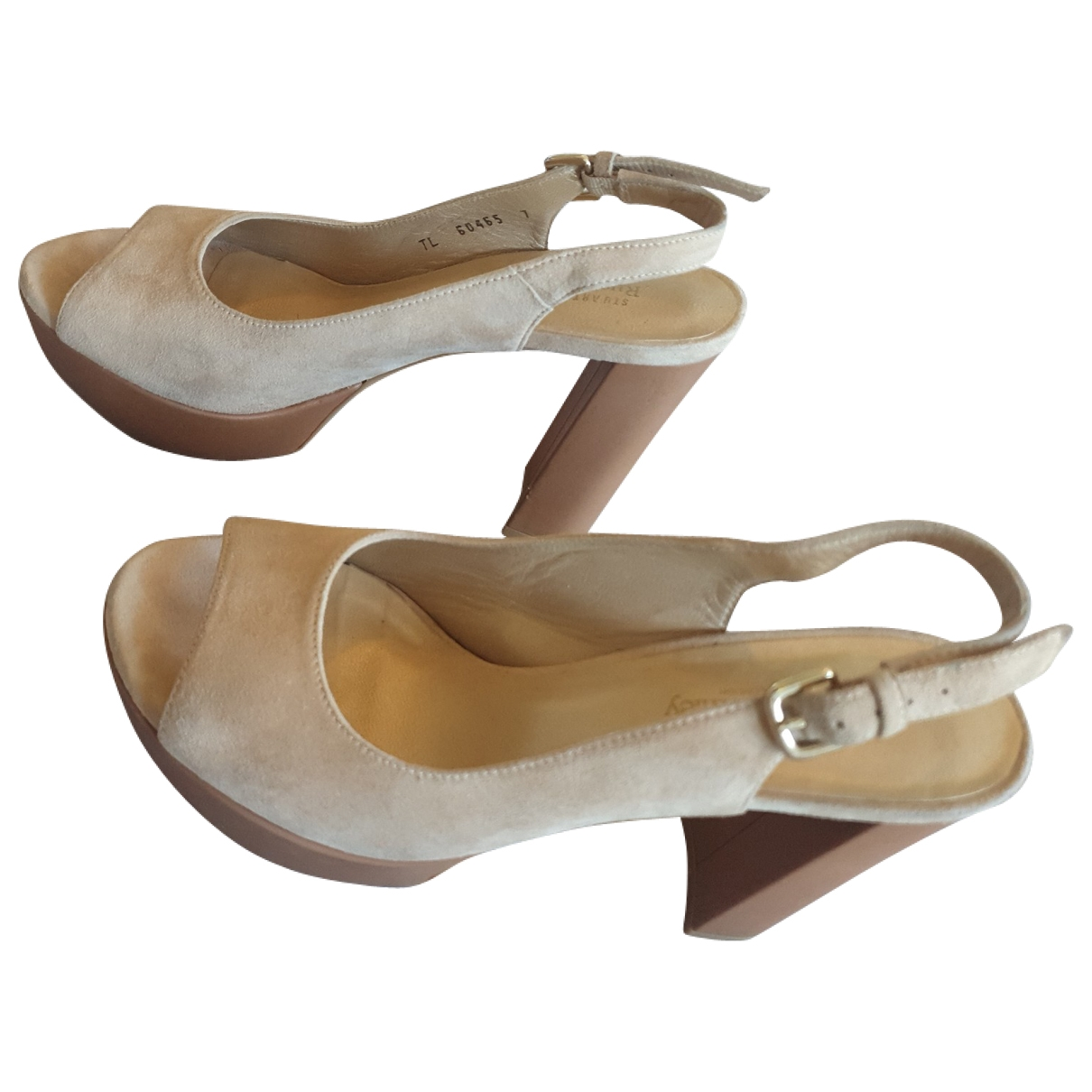 Stuart Weitzman \N Camel Suede Sandals for Women 37 EU