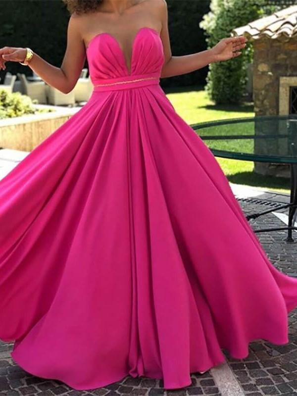 Ericdress V-Neck Sleeveless A-Line Floor-Length Prom Dress