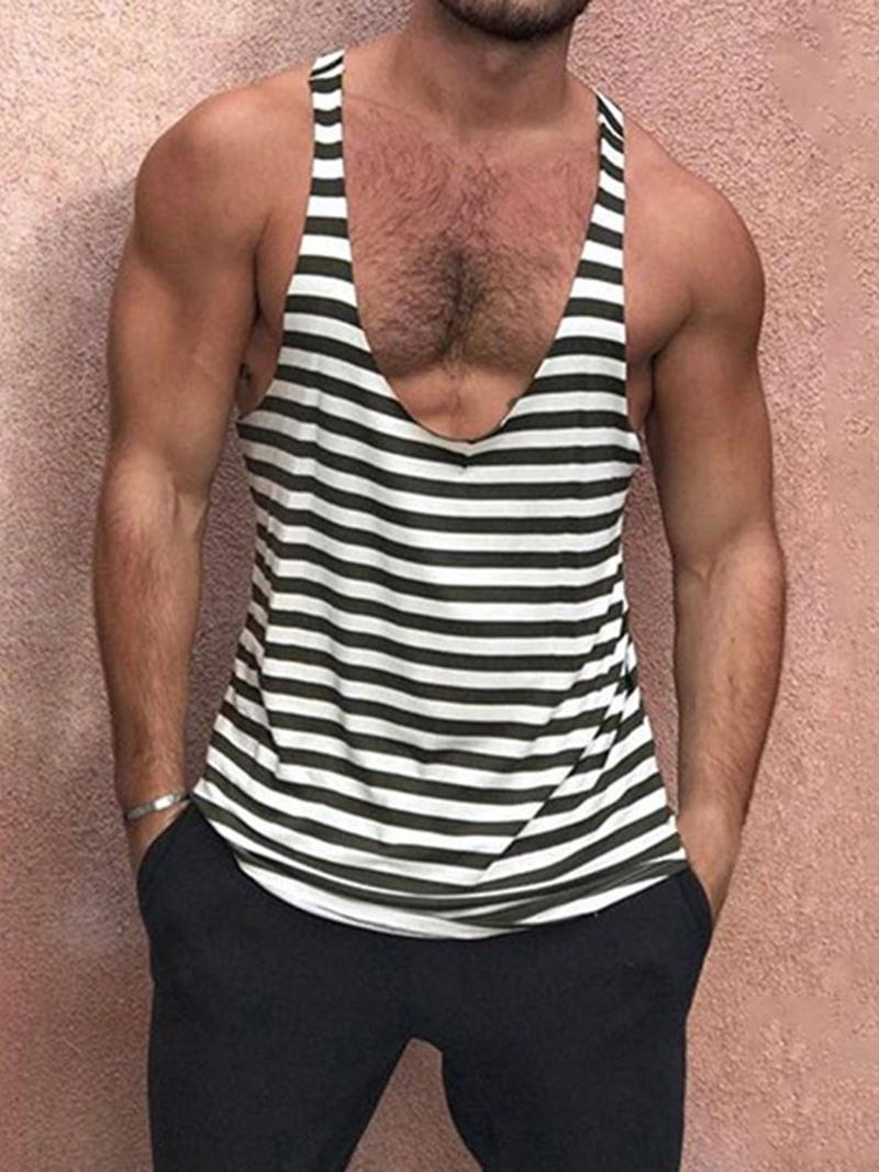 Ericdress Slim Stripe Summer European Vest