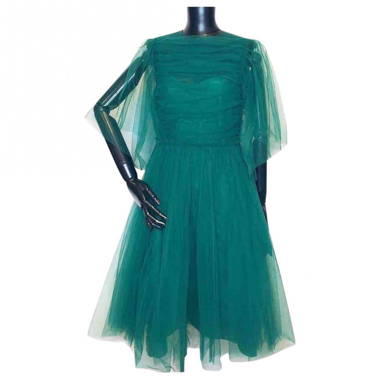 Rochas \N Kleid in  Gruen Synthetik
