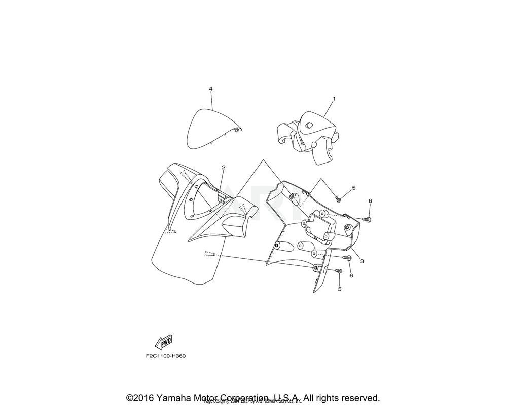 Yamaha OEM F1K-U142D-00-00 COVER, PAD