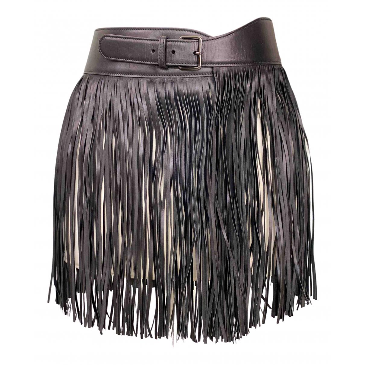 Alaïa N Black Leather belt for Women 75 cm