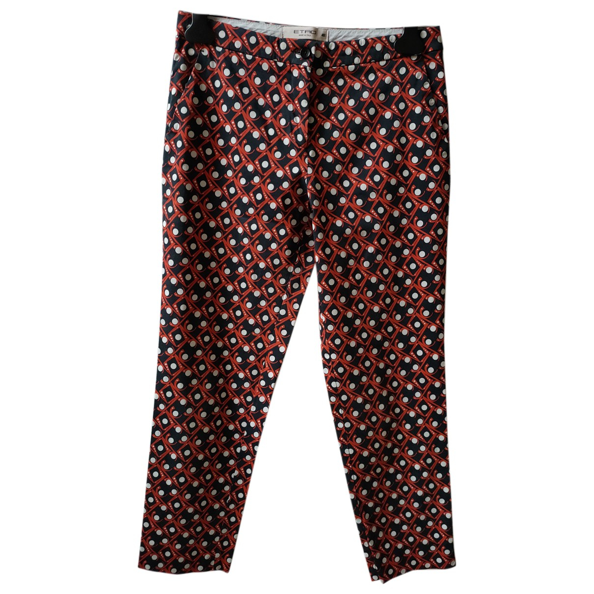 Etro N Multicolour Cotton Trousers for Women 40 IT
