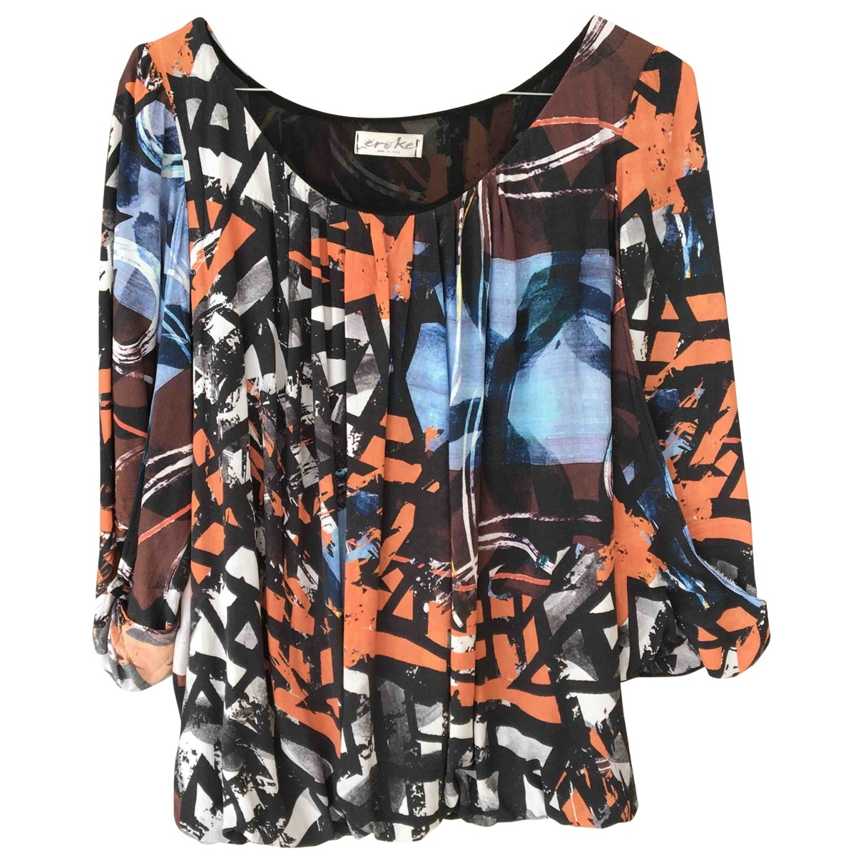 Non Signe / Unsigned \N Top in  Bunt Polyester