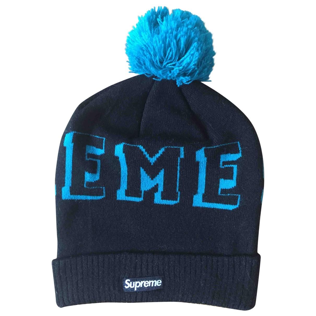 Supreme - Chapeau & Bonnets   pour homme en laine - noir