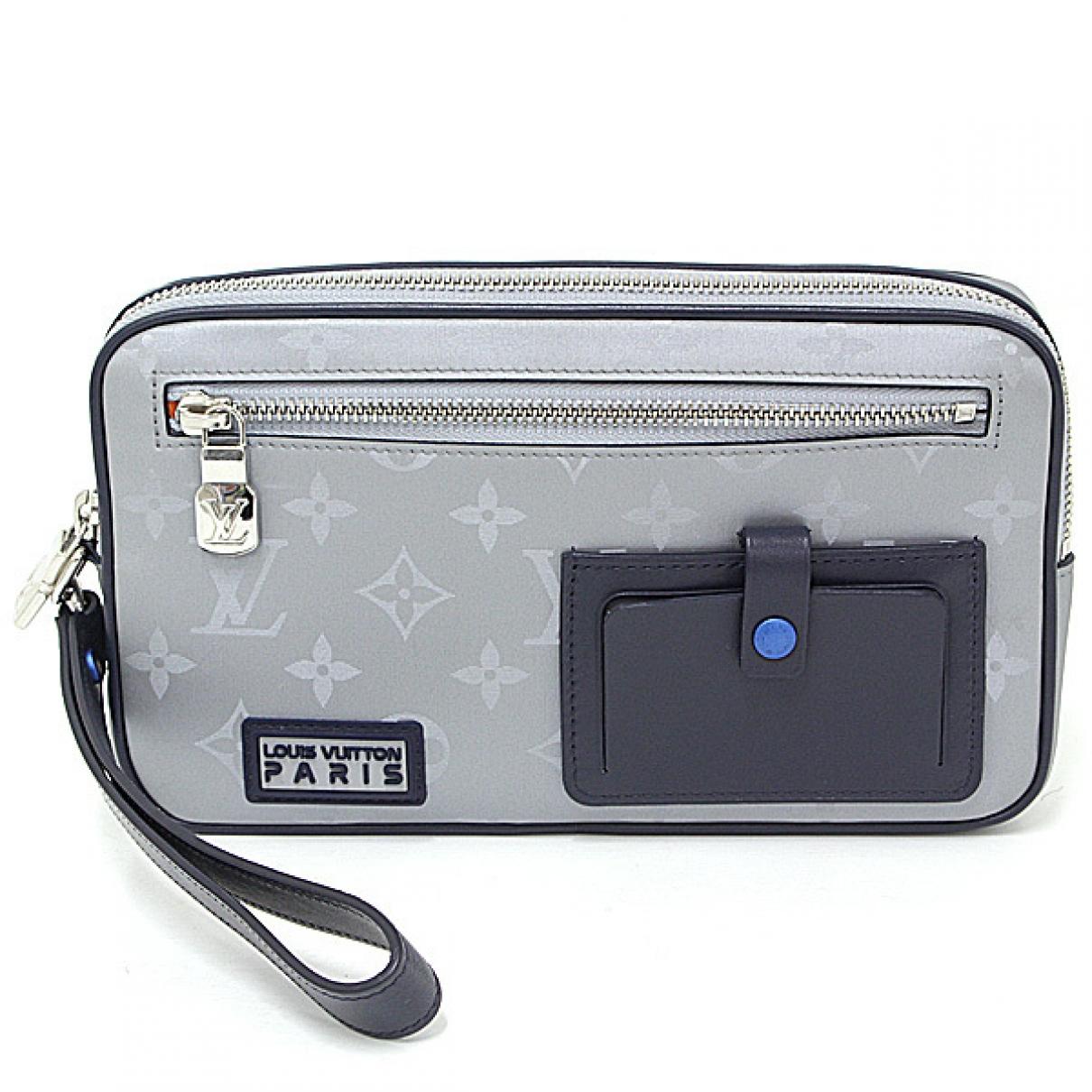 Louis Vuitton \N Taschen in  Silber Leinen