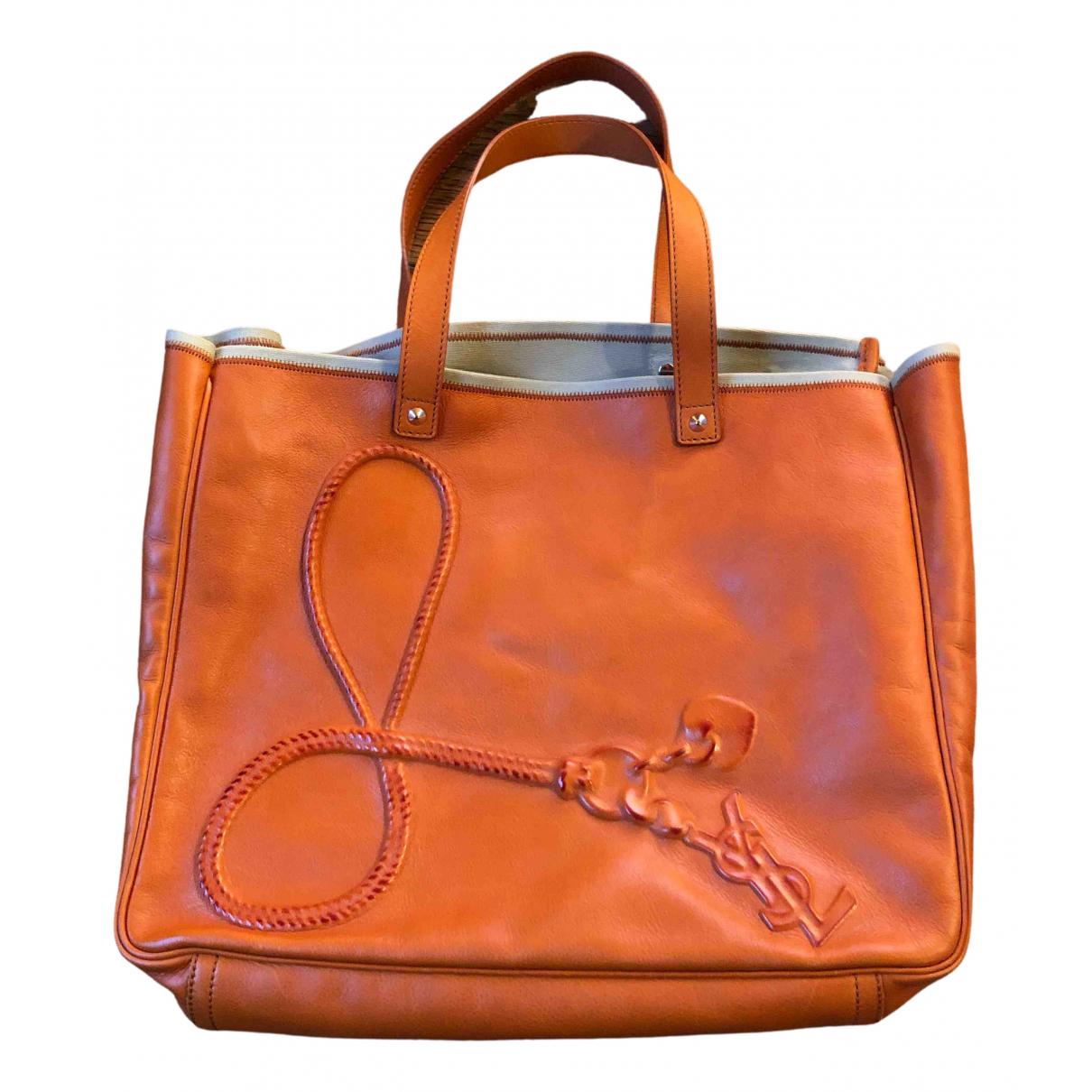 Yves Saint Laurent \N Handtasche in  Orange Leder