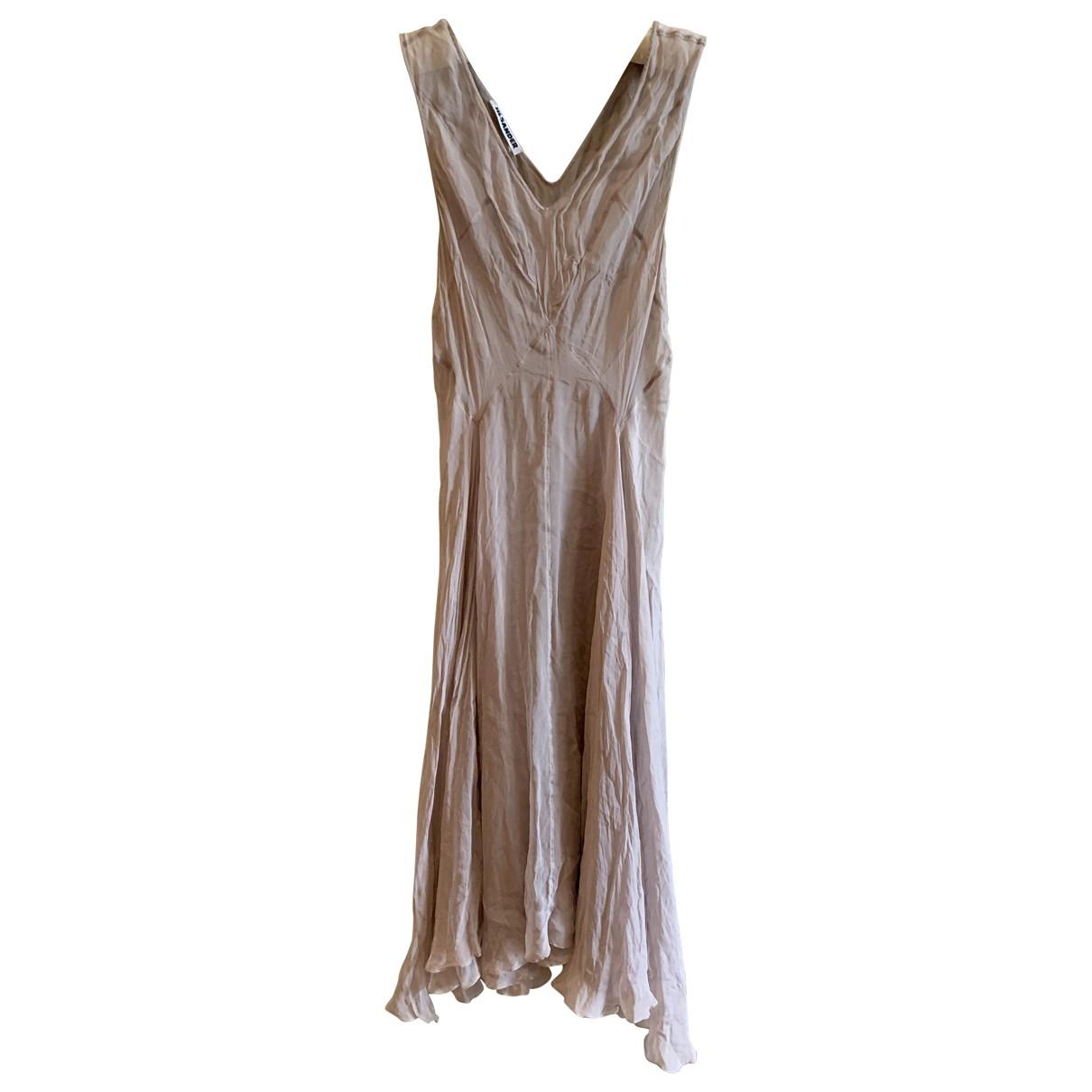 Jil Sander \N Kleid in  Lila Seide