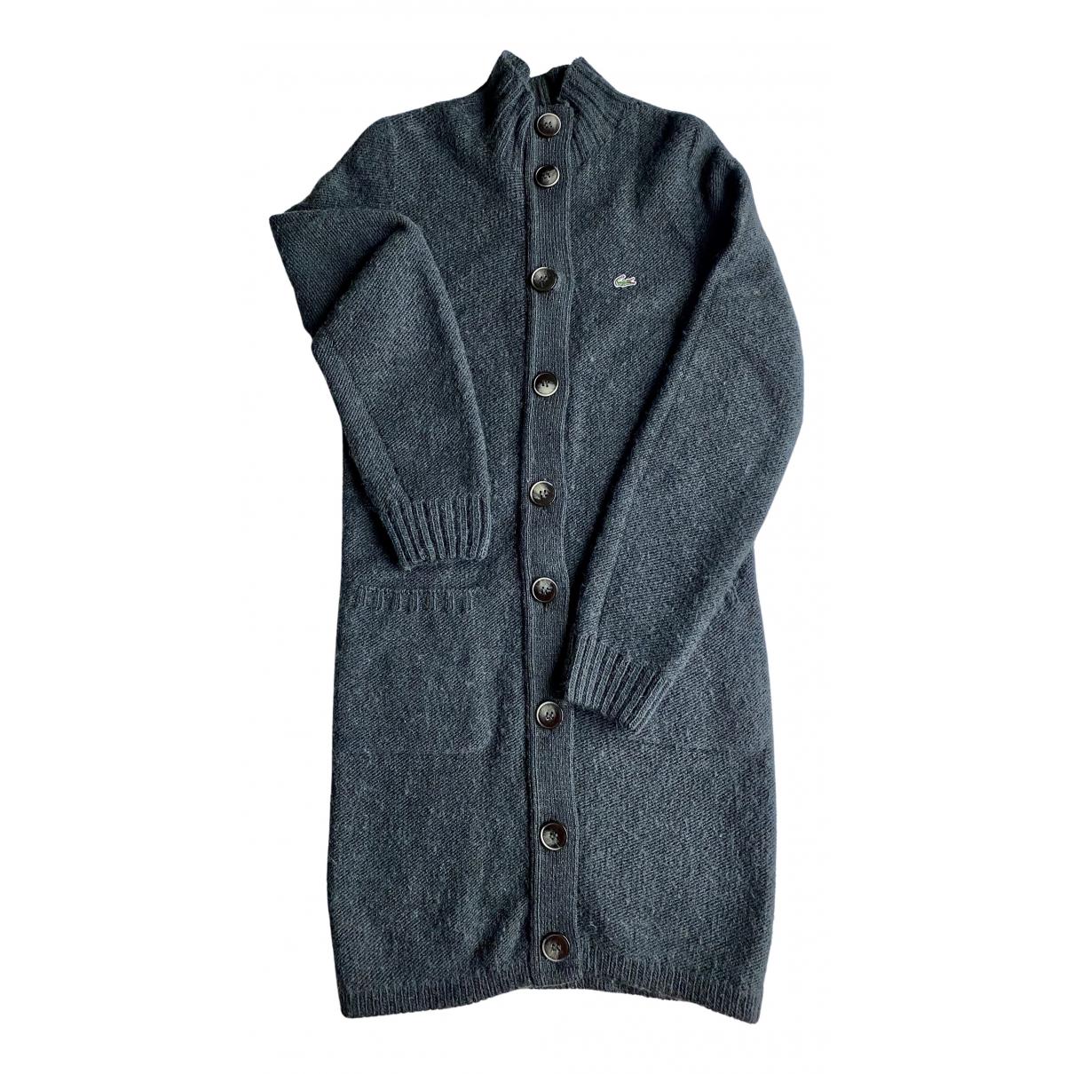 Lacoste - Pull   pour femme en laine - gris