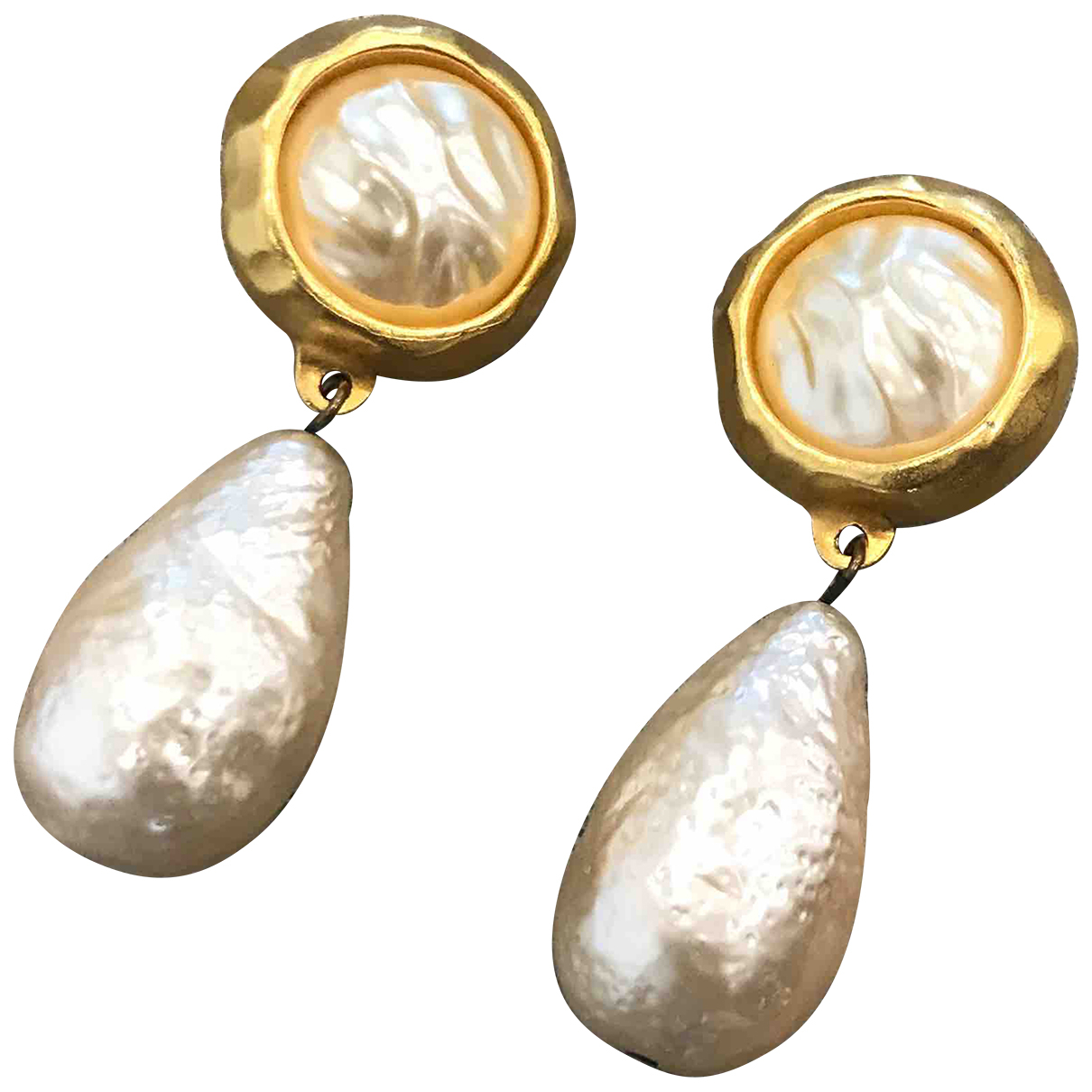 Donna Karan \N Gold Metal Earrings for Women \N
