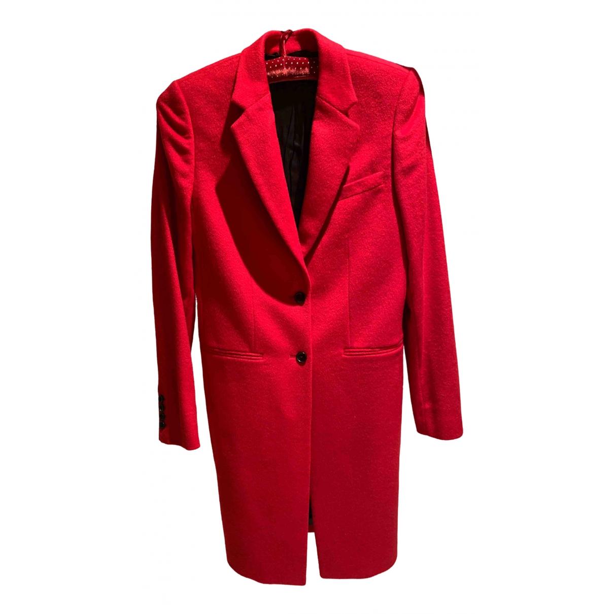 Joseph - Manteau   pour femme en laine - rouge