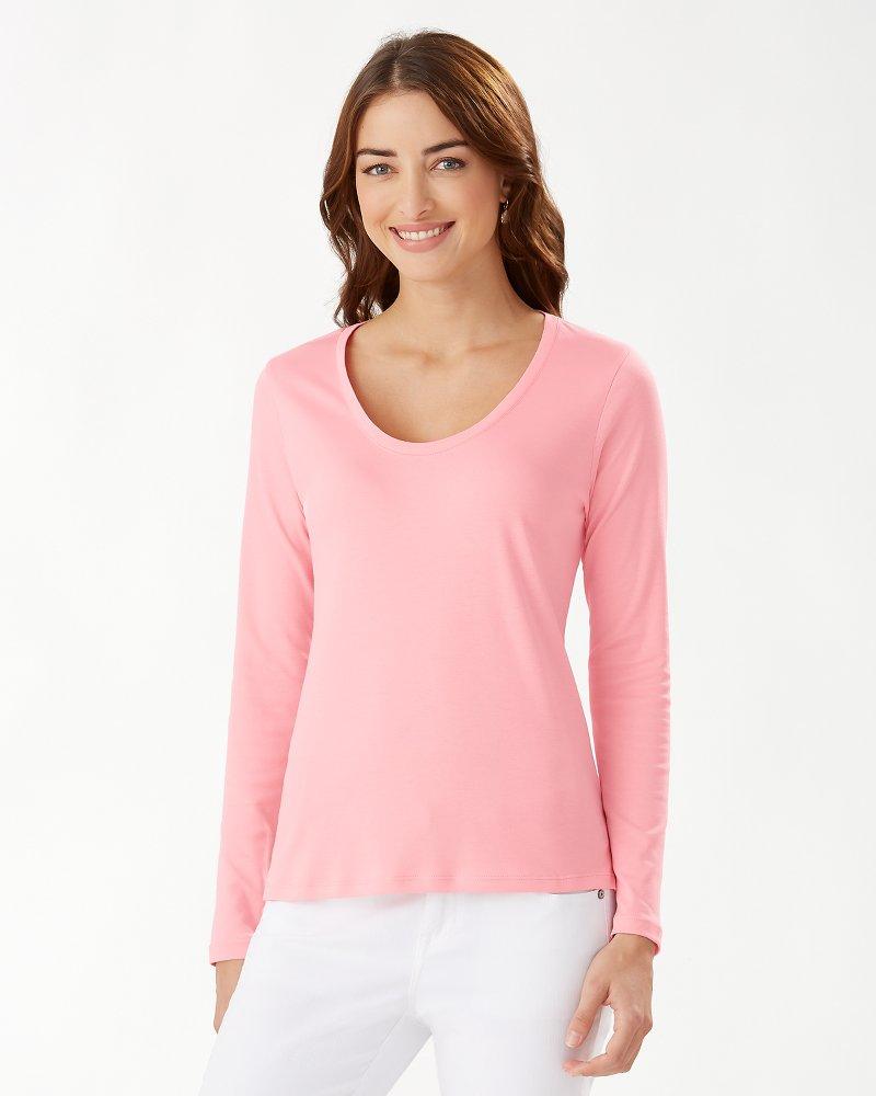 Kona Scoop-Neck Long-Sleeve T-Shirt