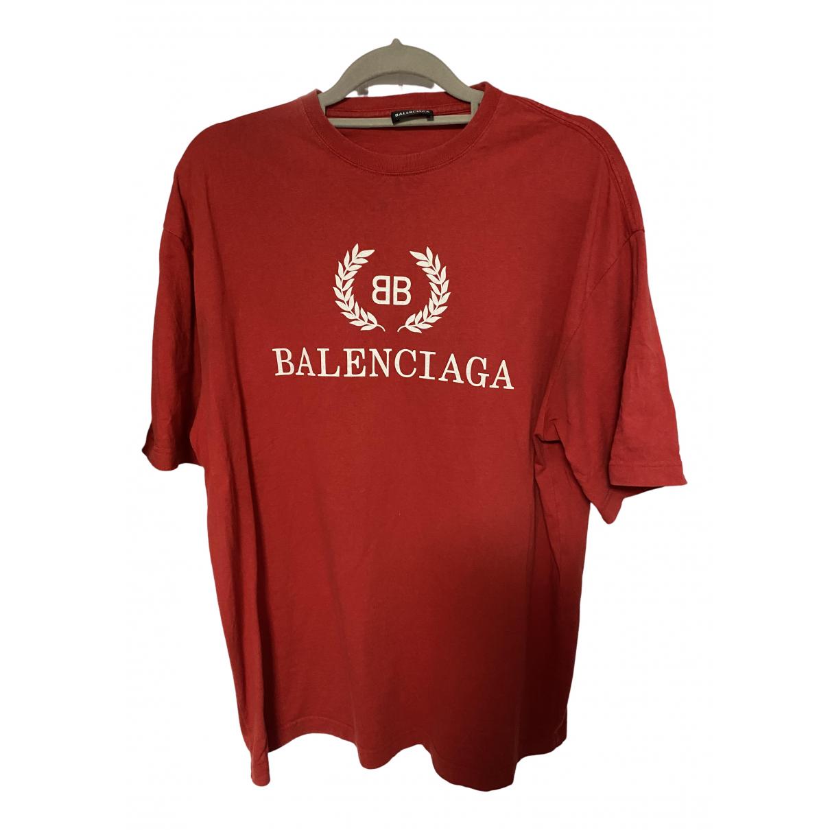 Balenciaga - Tee shirts   pour homme en coton - rouge