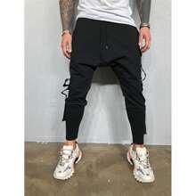 Pantalones cargo de cintura con cordon con bolsillo con solapa