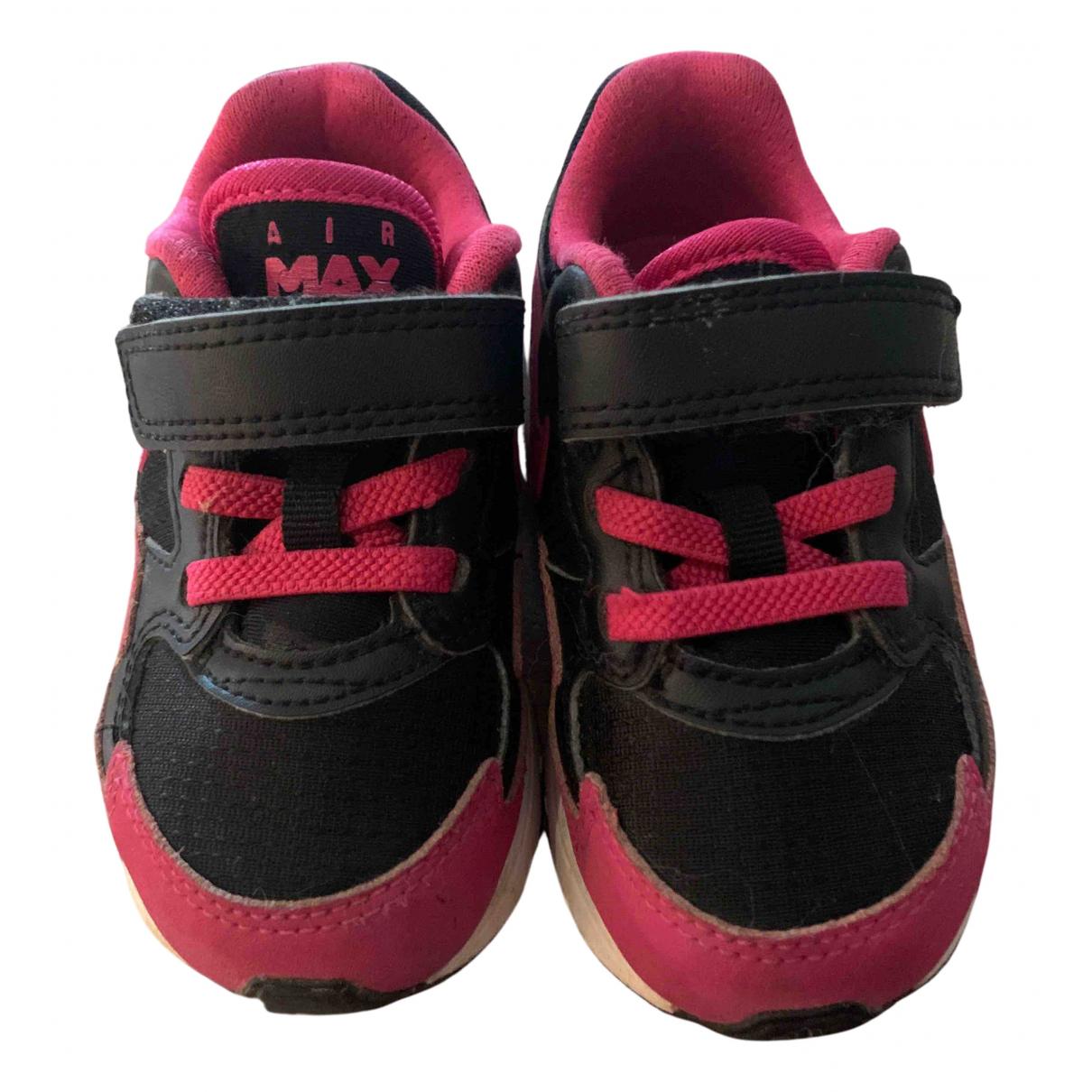 Nike - Baskets Air Max  pour enfant en toile - noir