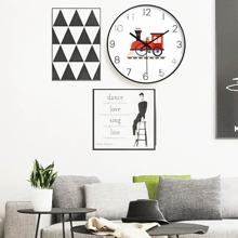 1pc Sweeping Car Print Wall Clock