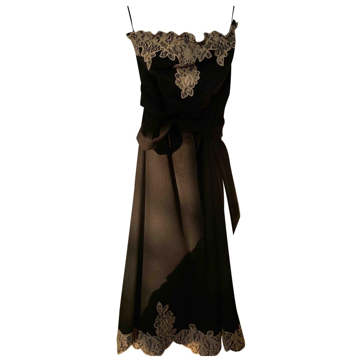 Red Valentino Garavani \N Black Wool dress for Women 44 IT