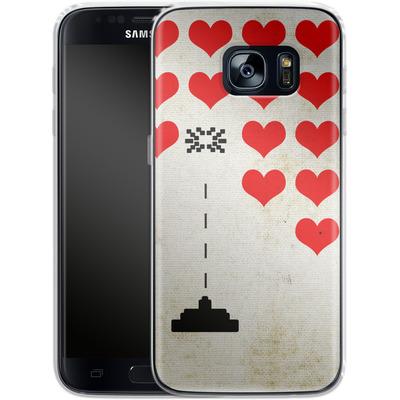 Samsung Galaxy S7 Silikon Handyhuelle - Heart Attack von Claus-Peter Schops