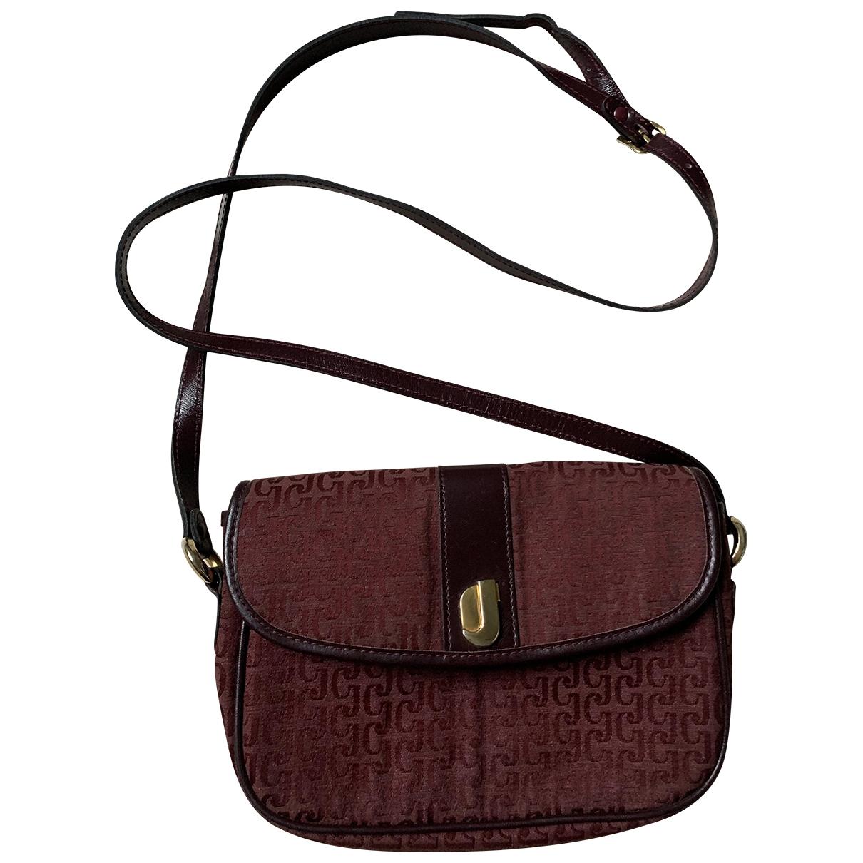 Charles Jourdan \N Handtasche in  Bordeauxrot Leinen
