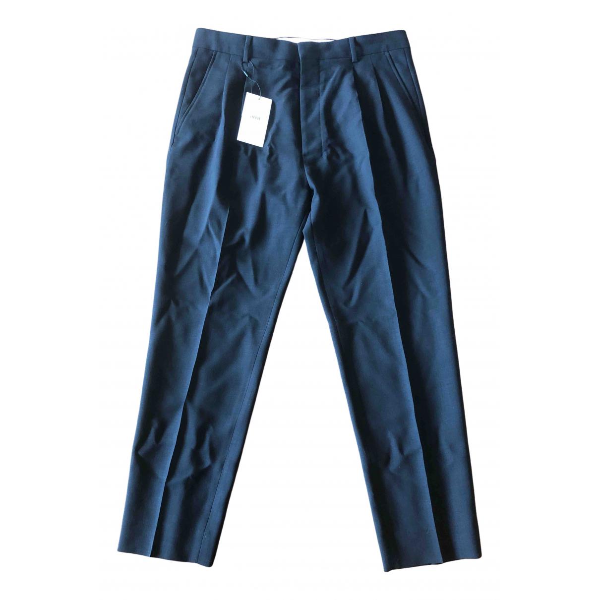 Ami \N Black Wool Trousers for Men 40 FR