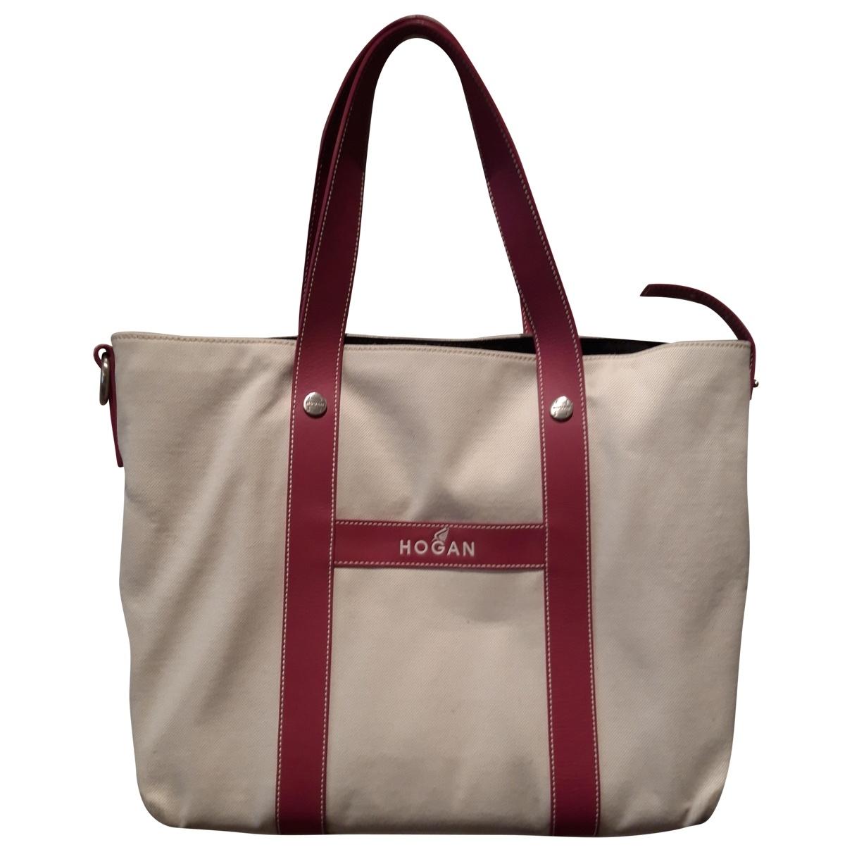 Hogan \N White Cotton handbag for Women \N
