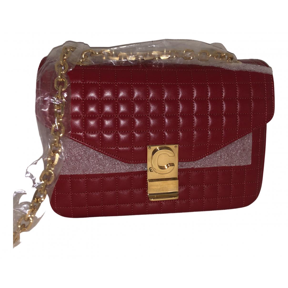 Celine C bag Handtasche in  Rot Leder