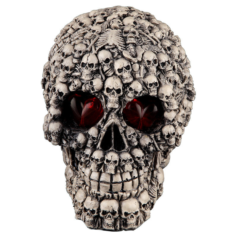 Halloween Human Prop Resin Skull LED Night Lights Decorative Novelty Pranksters Halloween Supplies