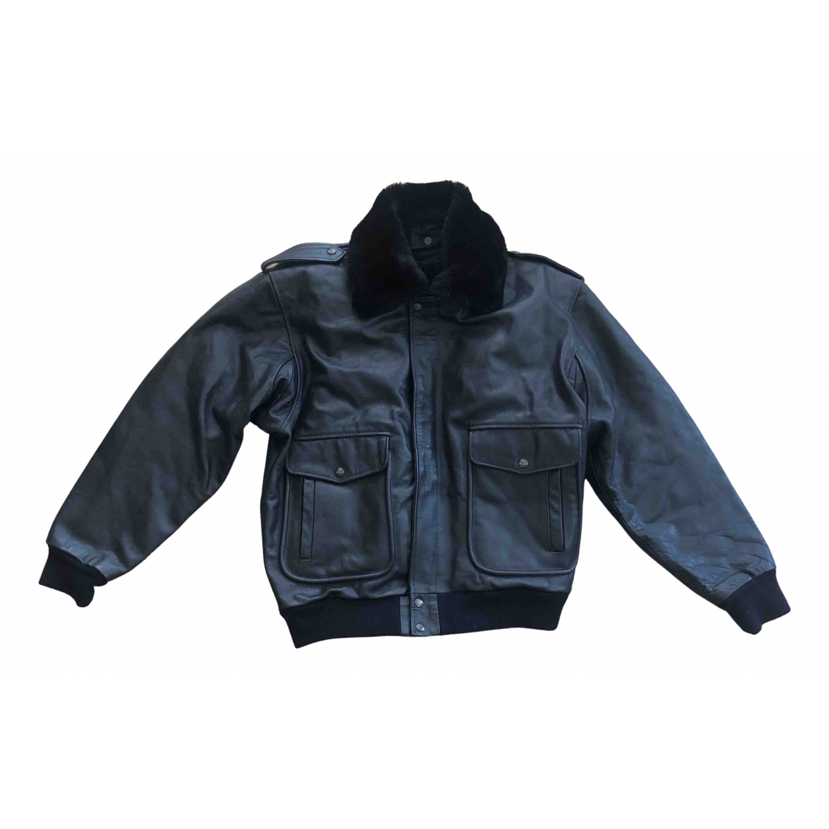 Mac Douglas \N Black Leather jacket  for Men M International
