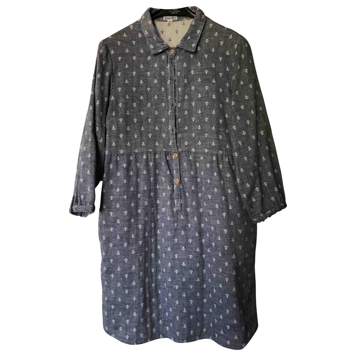 Steven Alan \N Blue Cotton dress for Women S International