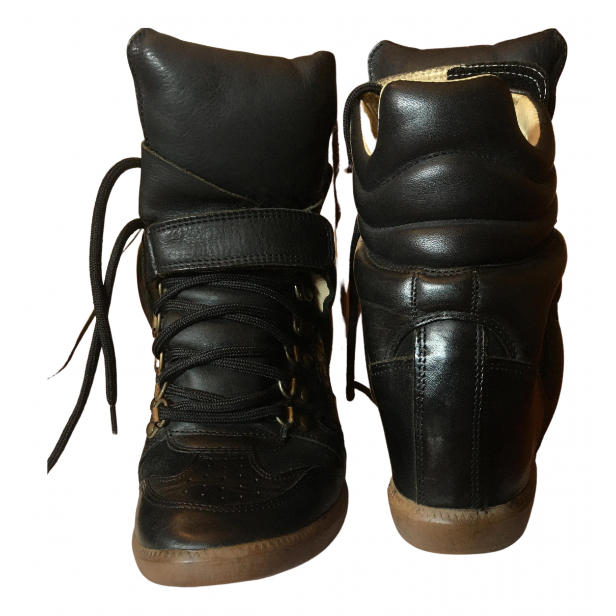 Isabel Marant Beckett Black Leather Trainers for Women 39 EU