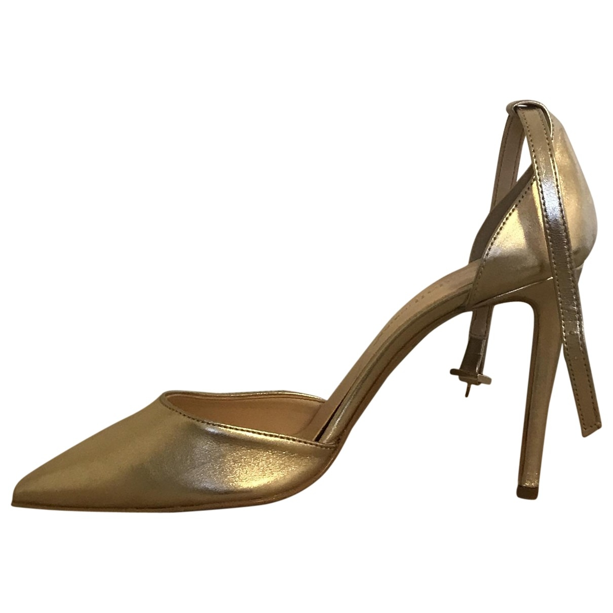 Non Signé / Unsigned \N Gold Leather Heels for Women 40 EU