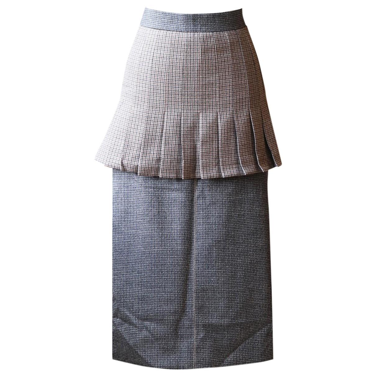 Fendi - Jupe   pour femme en laine - marron
