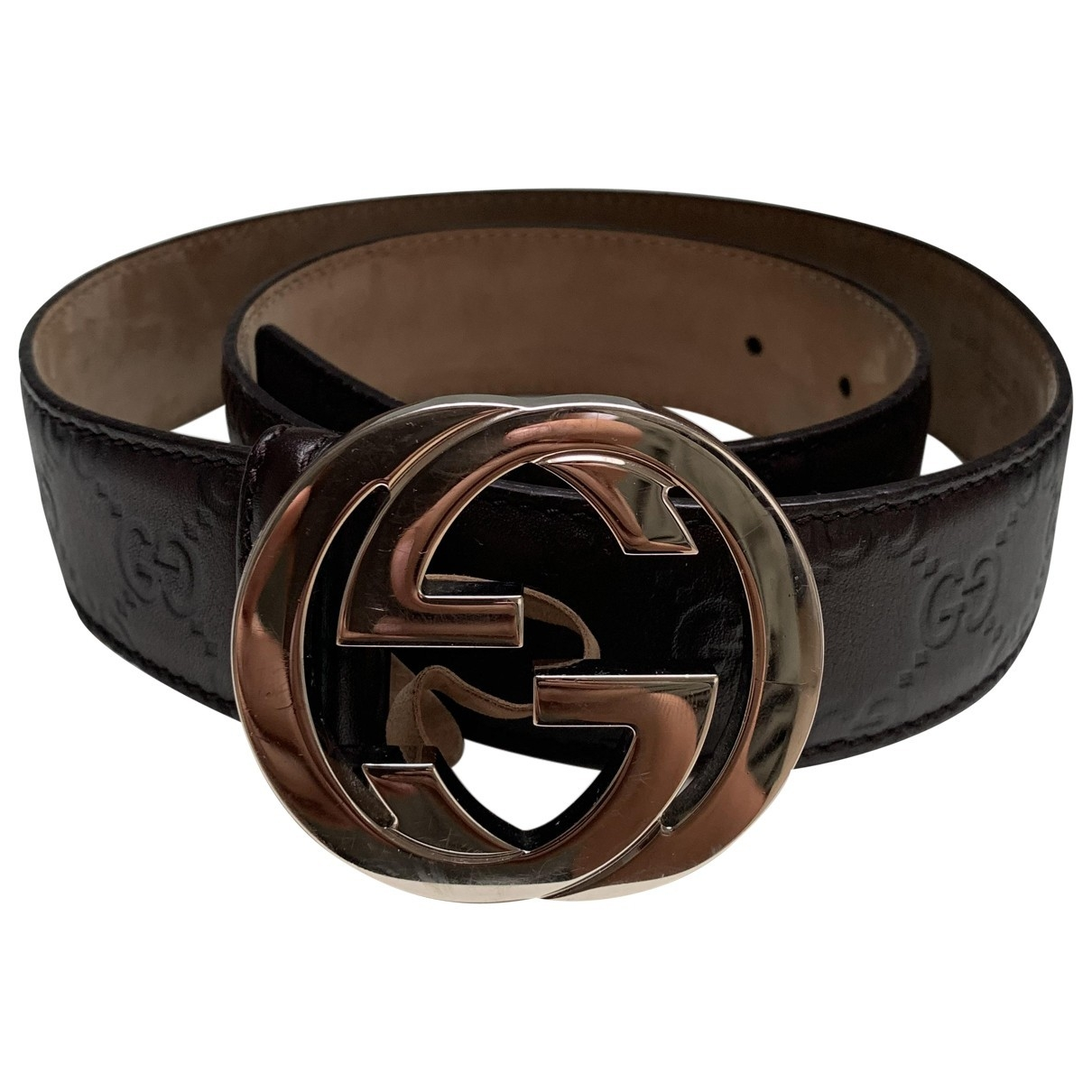 Gucci Interlocking Buckle Leather belt for Women 80 cm