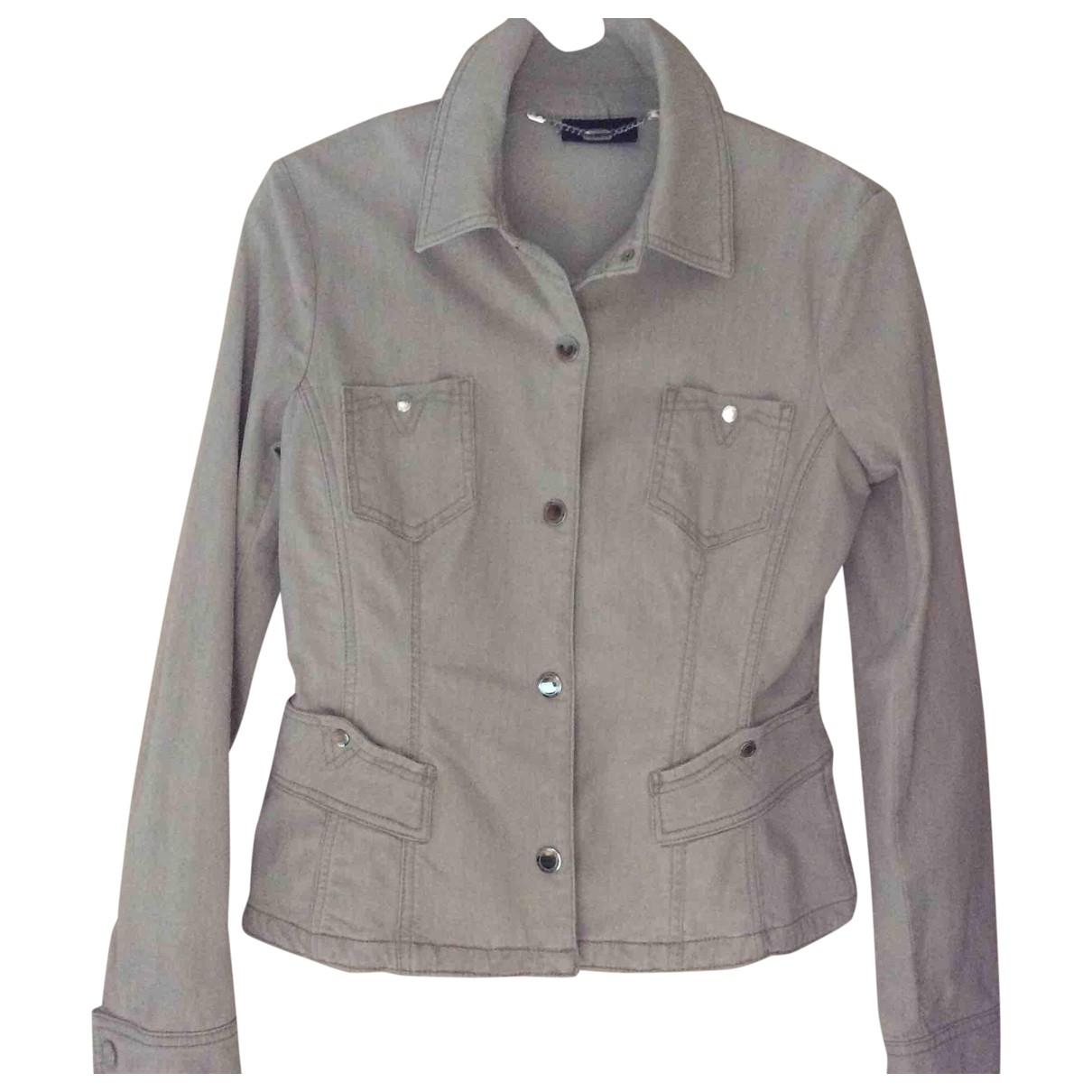 Trussardi Jeans \N Beige Cotton Leather jacket for Women 44 IT