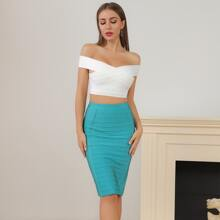Lucra High Waist Bandage Pencil Skirt