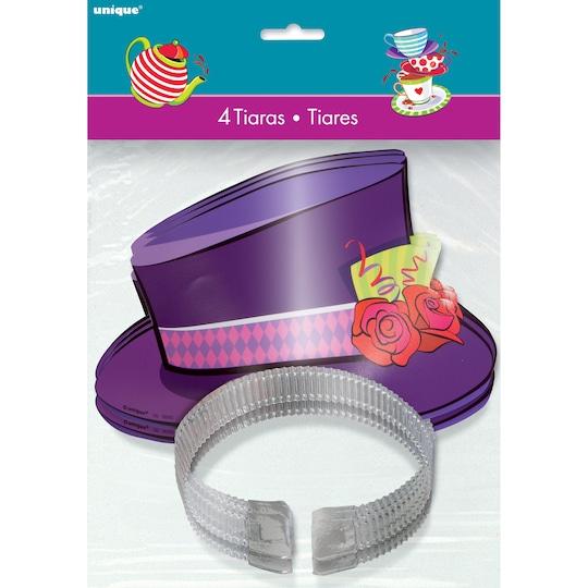 Mad Hatter Tea Party Top Hat Tiaras, 4Ct By Unique   Michaels�
