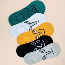 5pairs Figure Pattern Socks