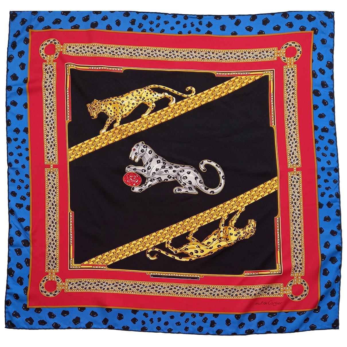 Cartier - Foulard   pour femme en soie - multicolore