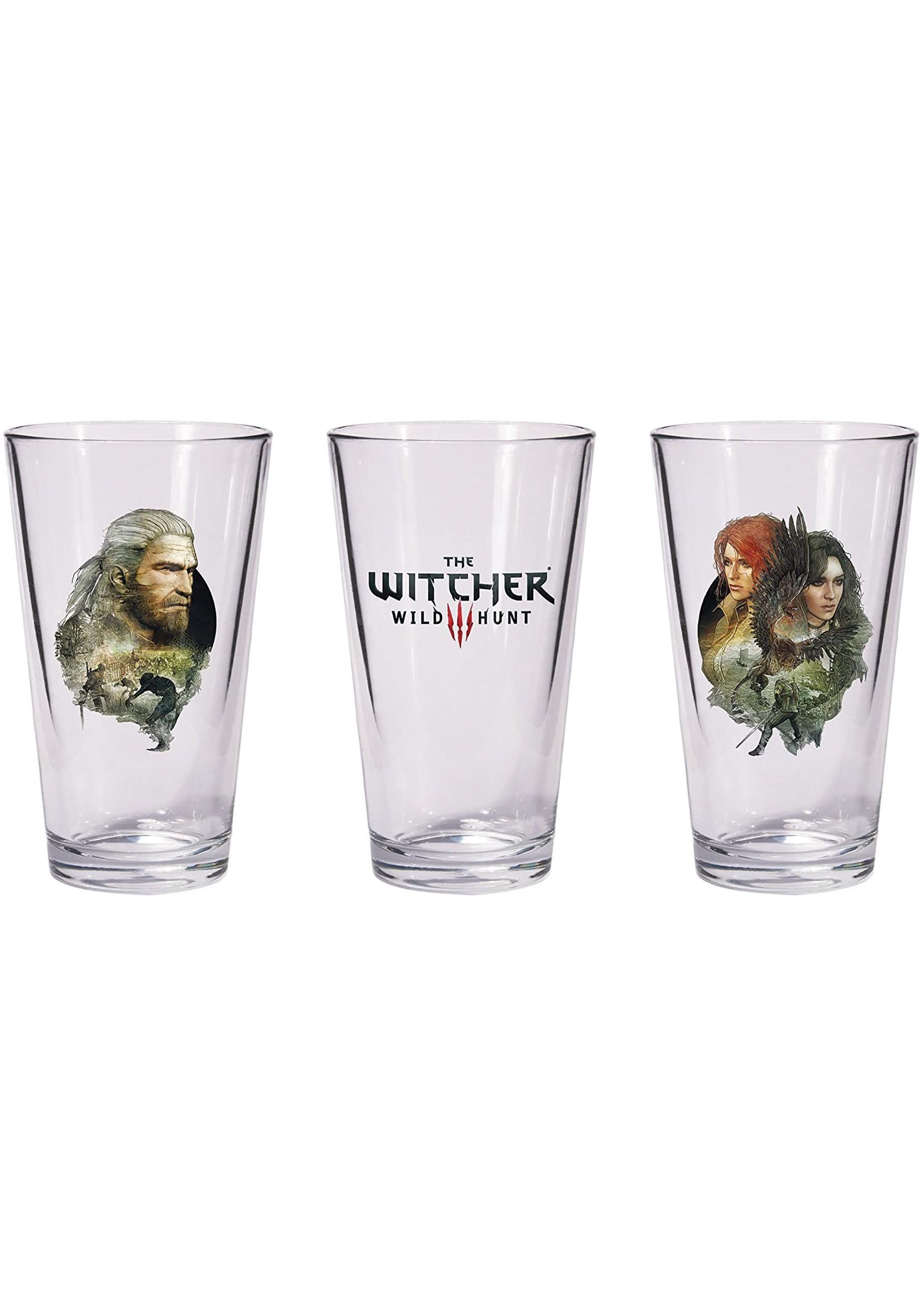 The Witcher Geralt & Triss With Yen Pint Glass Set