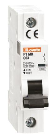 Lovato ModuLo 6 A MCB Mini Circuit Breaker, 1P Curve C