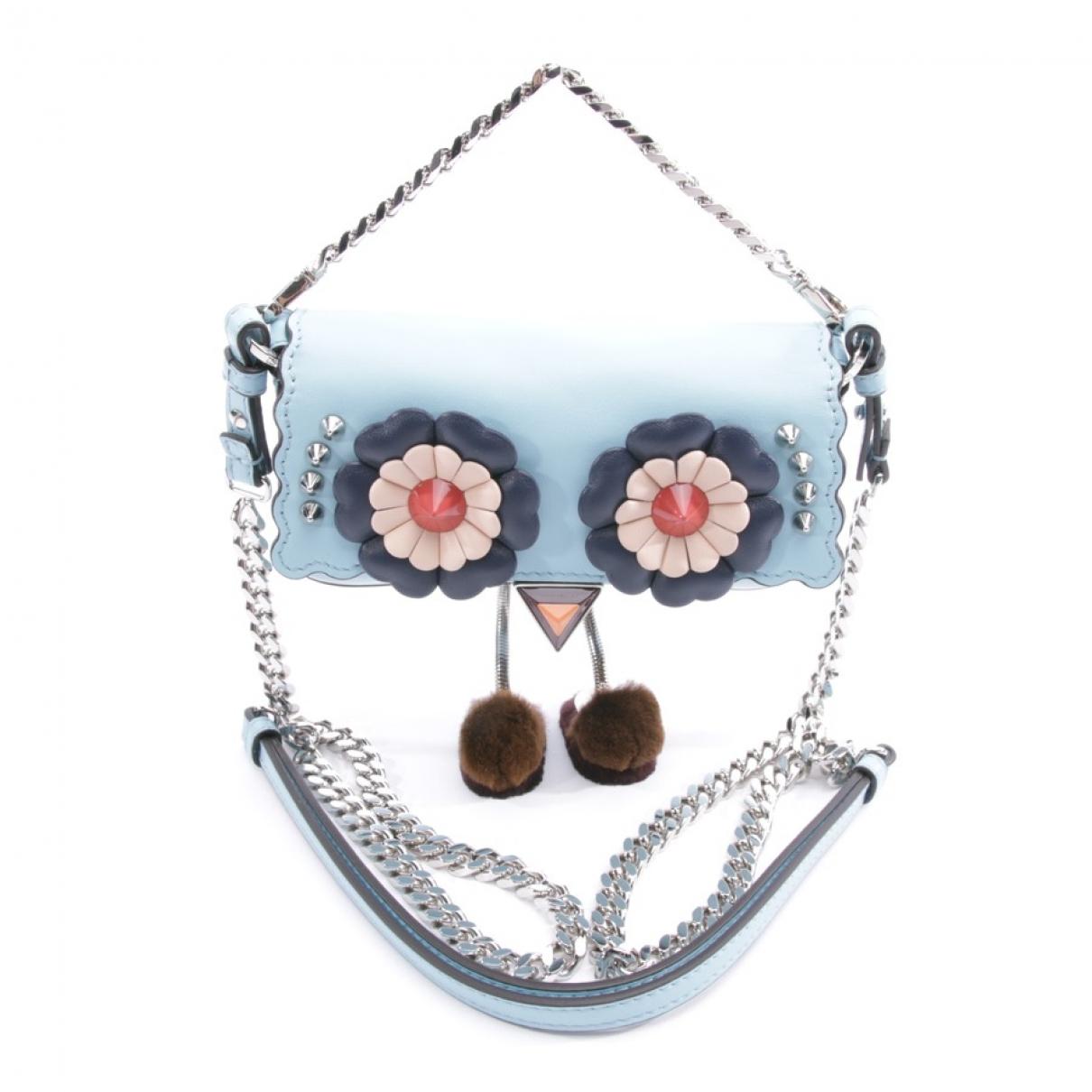 Fendi - Pochette   pour femme en cuir - bleu