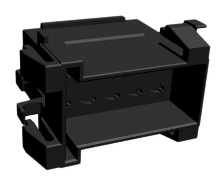 TE Connectivity , Junior Power Timer Automotive Connector Socket 2 Row 10 Way, Black