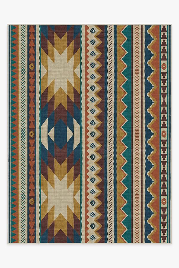 Washable Rug Cover & Pad | Yuma Polychrome Rug | Stain-Resistant | Ruggable | 9'x12'