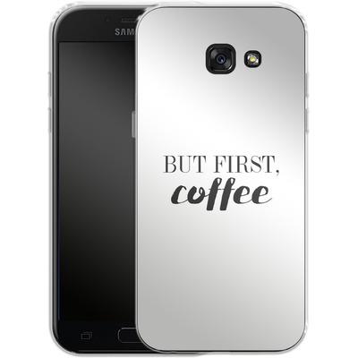 Samsung Galaxy A5 (2017) Silikon Handyhuelle - But first, coffee! von Erik Scholz