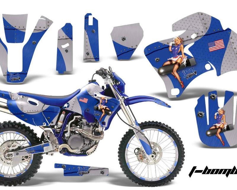 AMR Racing Graphics MX-NP-YAM-WR 250F/400F/426F-98-02-TB U Kit Decal Wrap + # Plates For Yamaha WR 250F |400F |426F 1998-2002áTBOMBER BLUE